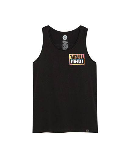 Black Maui and Sons vest top