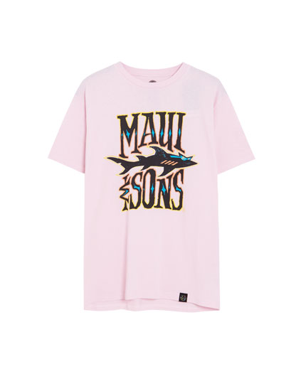 T-shirt Maui and Sons vert