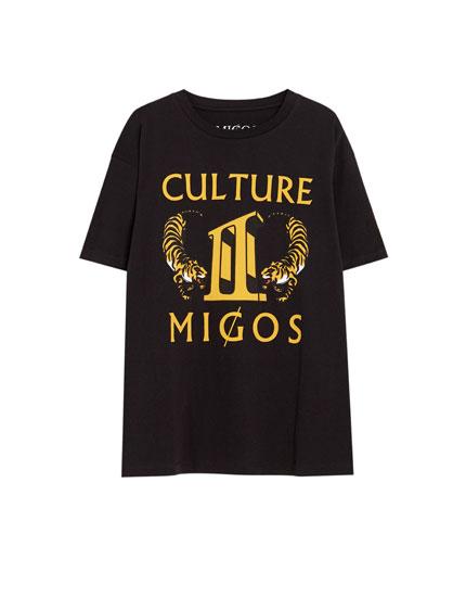 Migos T-shirt 'Culture' met tijger.