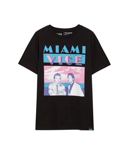 T-shirt Miami Vice imprimé photo