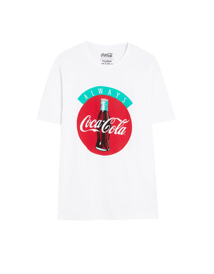 Shirt mit Slogan Always Coca-Cola