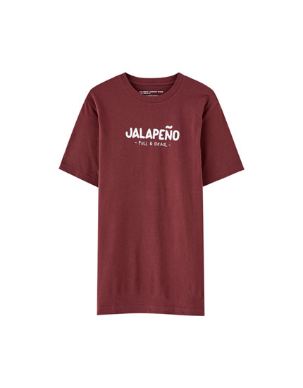 T-shirt bordeaux « Jalapeño »