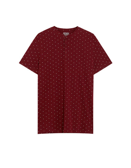 All-over print V-neck T-shirt