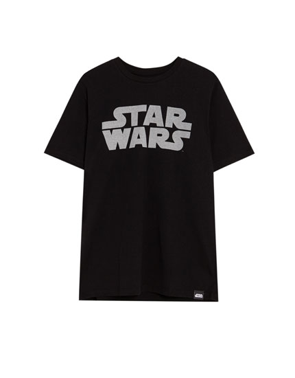 Short sleeve T-shirt with the Star Wars logo
