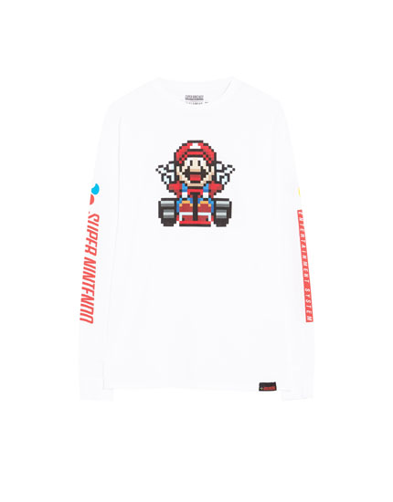 Playera manga larga Super Mario Bros
