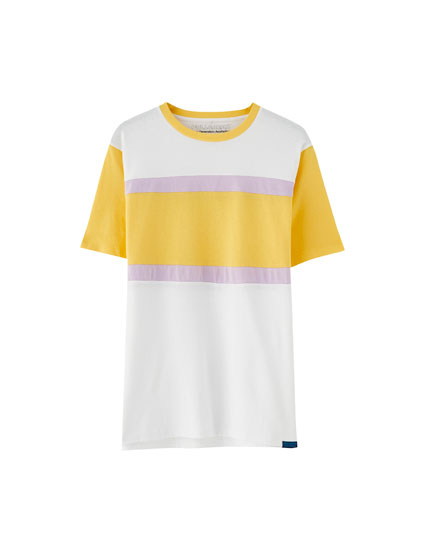 Camiseta panel color block