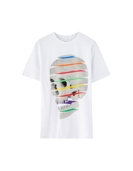Sliced skull T-shirt