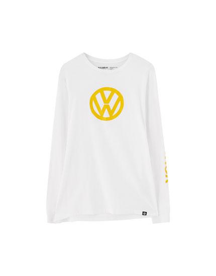 Tricou cu mânecă lungă și logo Volkswagen