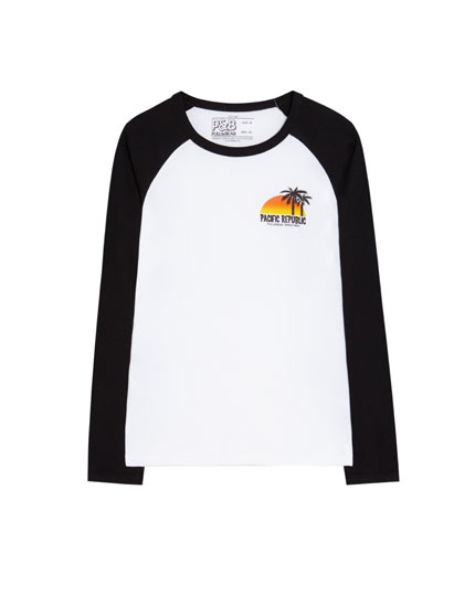 T-shirt manches raglan Pacific Republic