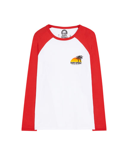 Long raglan sleeve Pacific Republic T-shirt
