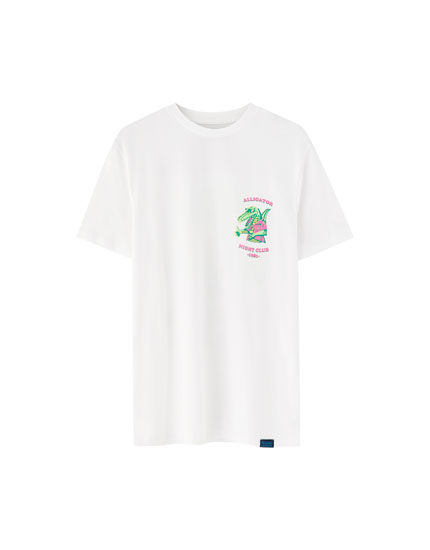 Playera estampado lagarto