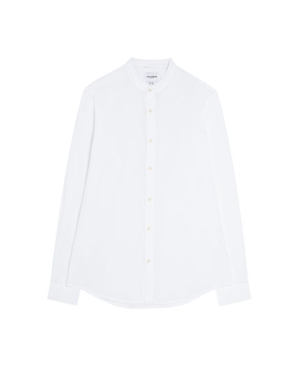 Basic skjorte med kinakrave