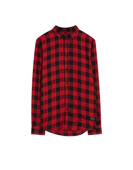 Overhemd in buffaloruit