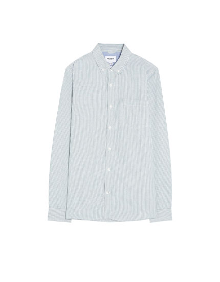 Camisa oxford de manga larga