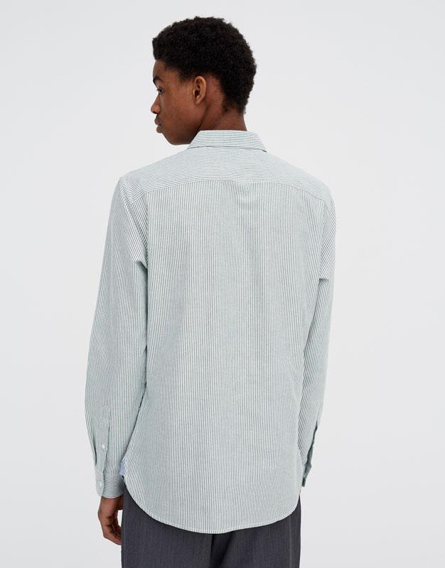 Pull & Bear - Langarm-Oxfordhemd - 4