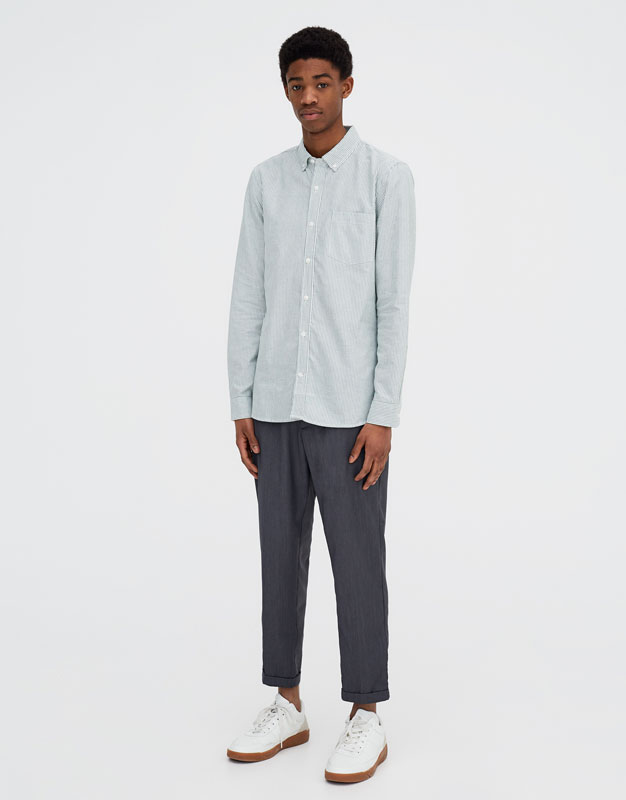 Pull & Bear - Langarm-Oxfordhemd - 5