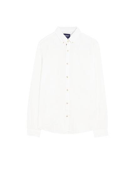 Camisa manga larga lino