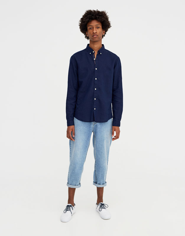 Pull & Bear - Chemise à manches longues lin - 2