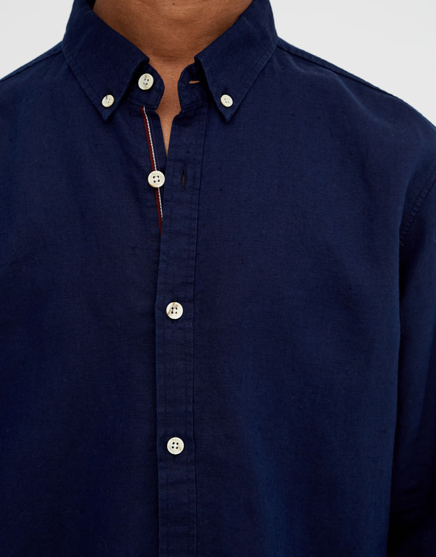 Pull & Bear - Chemise à manches longues lin - 3