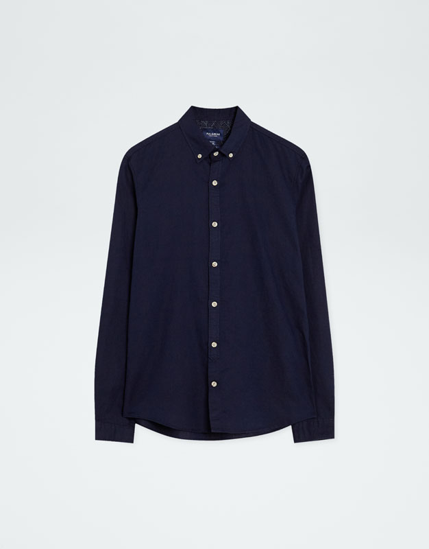 Pull & Bear - Chemise à manches longues lin - 6