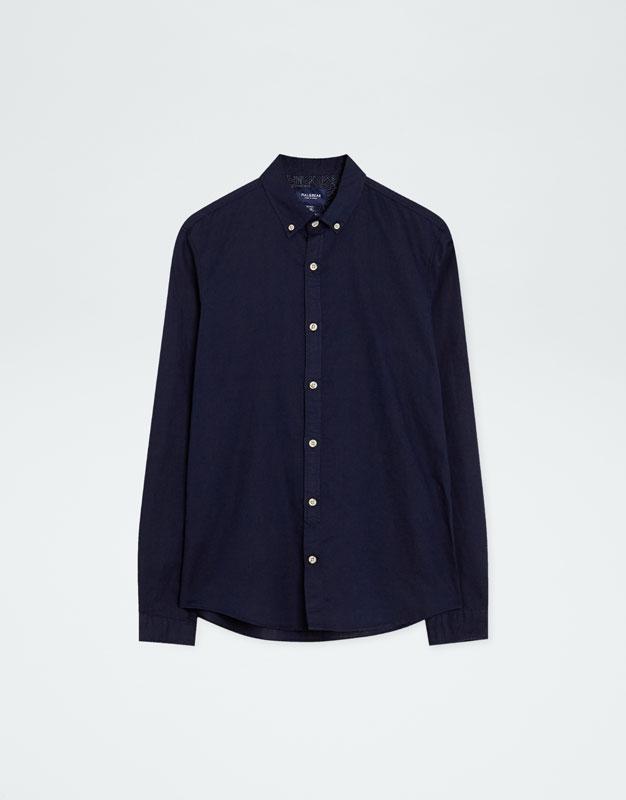 Pull & Bear - Camisa manga larga lino - 6