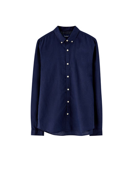 Basic slim fit linen shirt