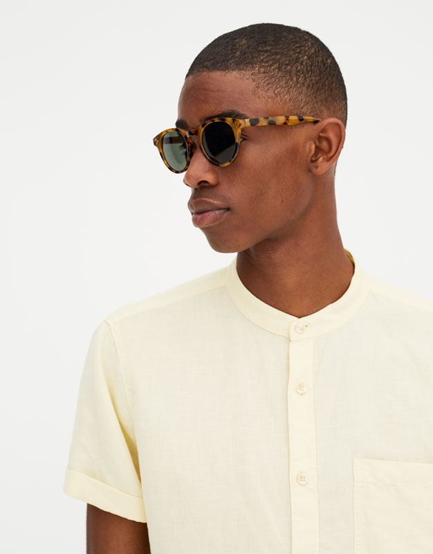 Pull & Bear - Chemise lin manches courtes - 2