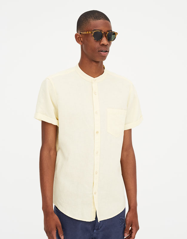 Pull & Bear - Chemise lin manches courtes - 5