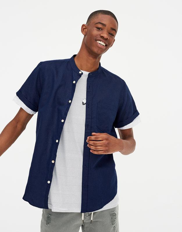 Pull & Bear - Camisa manga corta lino - 1