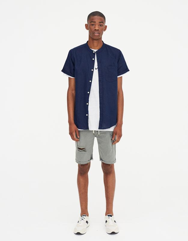Pull & Bear - Camisa manga corta lino - 2