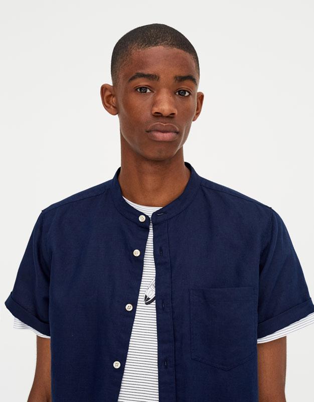 Pull & Bear - Camisa manga corta lino - 3