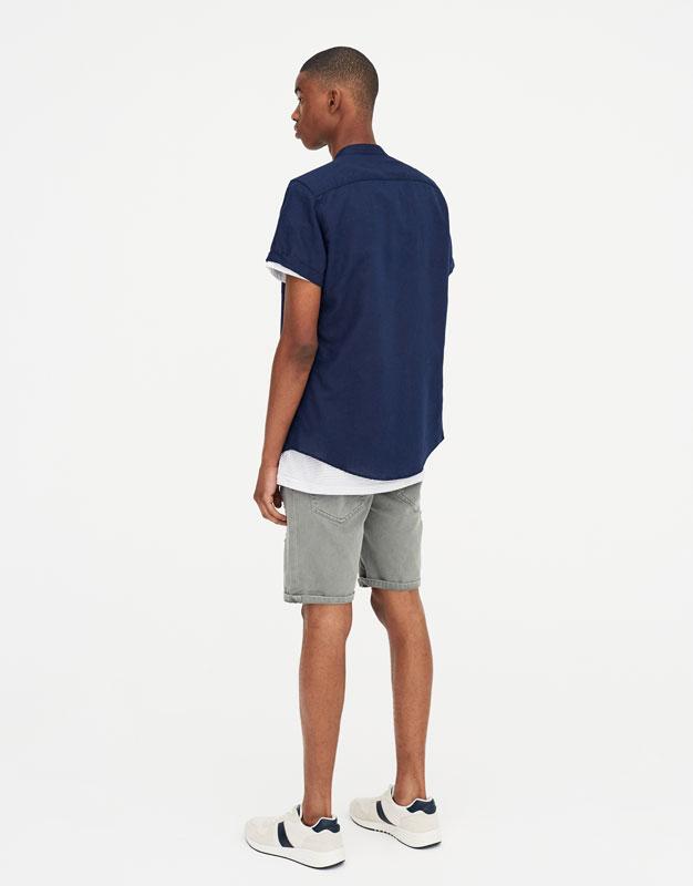 Pull & Bear - Camisa manga corta lino - 4