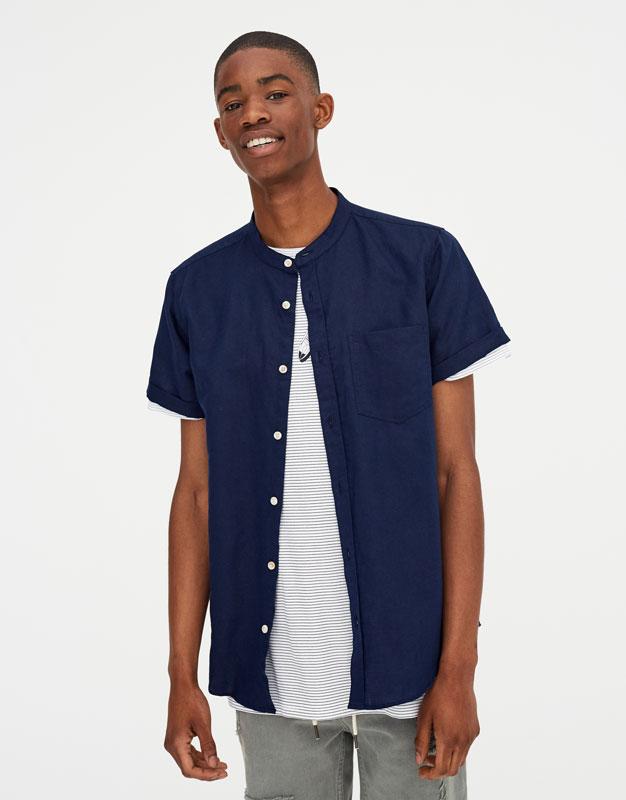 Pull & Bear - Camisa manga corta lino - 5