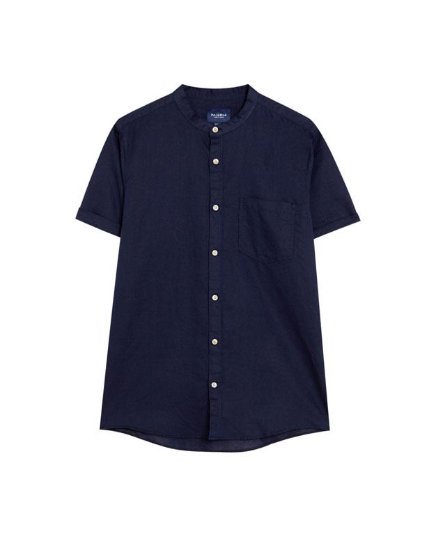Pull & Bear - Camisa manga corta lino - 6