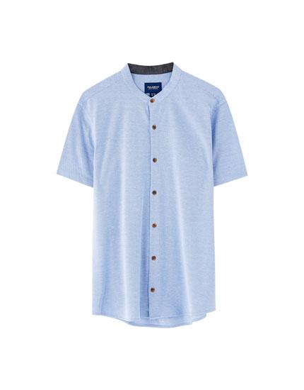 Piqué overhemd met korte mouwen