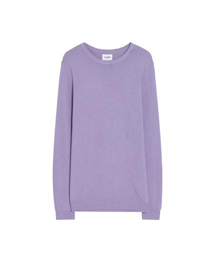 Basic fine knit sweater