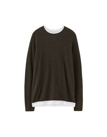 Sweater med undertrøje