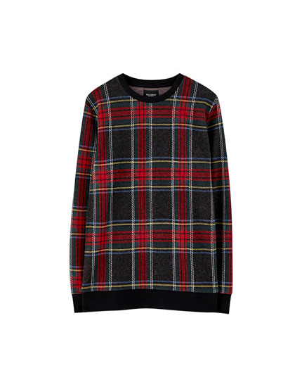 All-over tartan sweatshirt