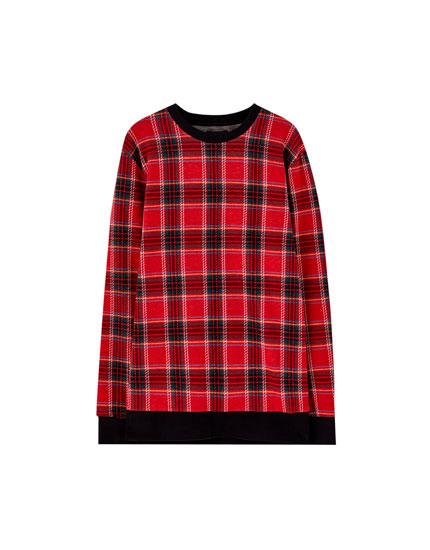 Sweatshirt mit Schottenkaros