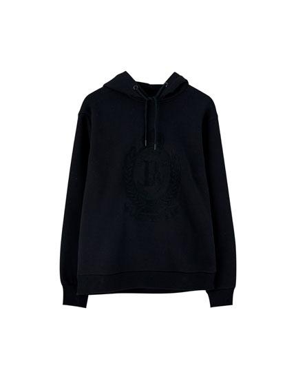 Hoodie with embroidered coat of arms
