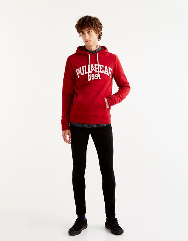 PULL&BEAR Sweatshirt - red 9F4MGsOR