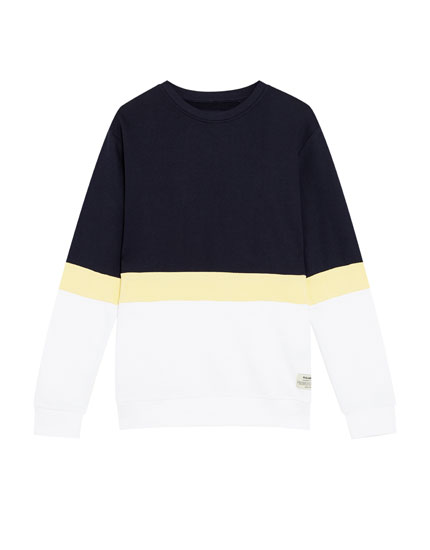 Lightweight cotton sweatshirt with three panels