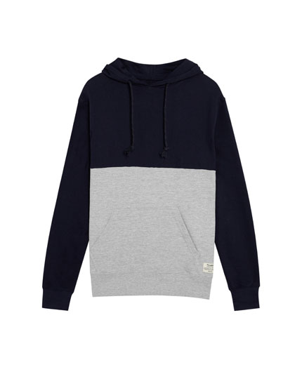 Hoodie in Colorblock-Optik