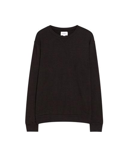 Basic sweatshirt med rund hals