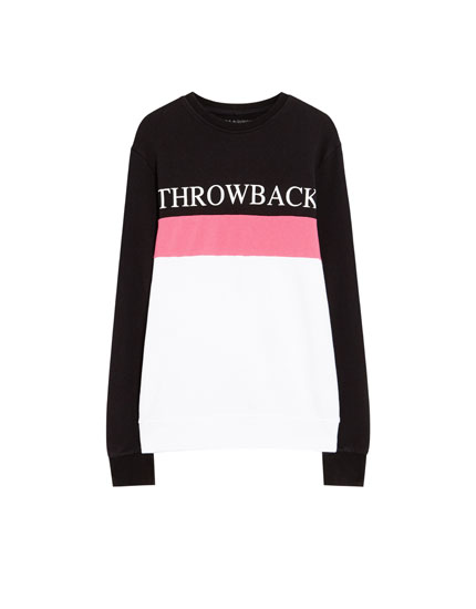Sweatshirt in Colorblock-Optik
