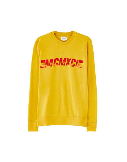 Sweatshirt med print af bogstaver