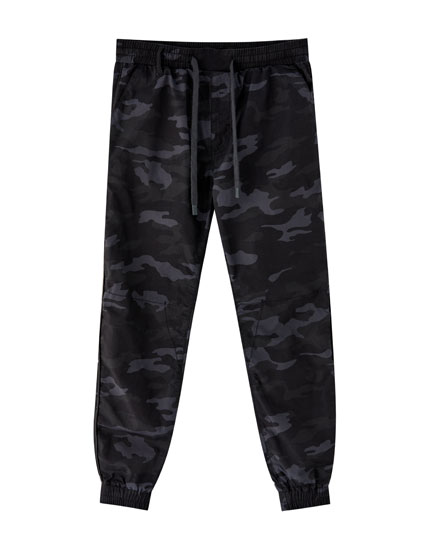 Cotton camouflage beach trousers