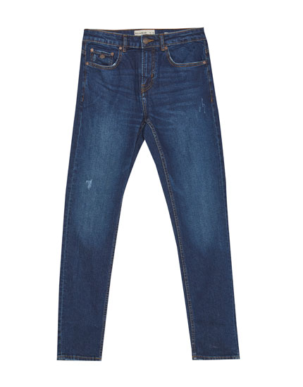 Medium-donkere slim comfort fit jeans