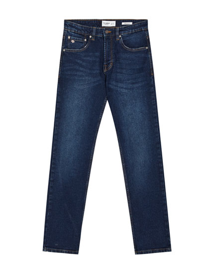 Regular comfort fit jeans in donkerblauw
