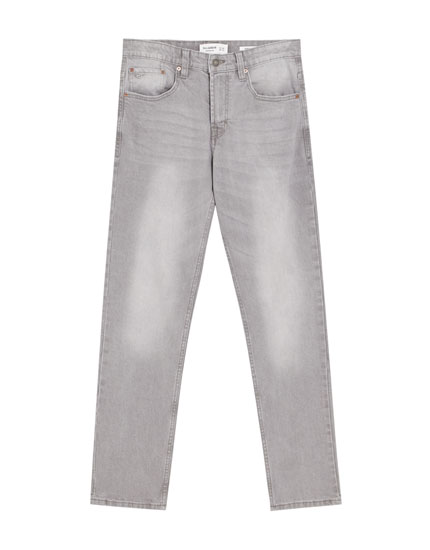 Regular comfort fit jeans in grijze wassing